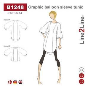 Bilde av Line2Line B1248 Tunika med grafiske ballongermer