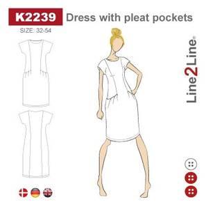 Bilde av Line2Line K2239 Kjole med lommer med legg