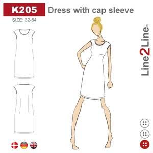 Bilde av Line2Line K205 Kjole med korte ermer