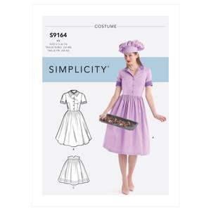Bilde av Simplicity S9164 Kostyme retro