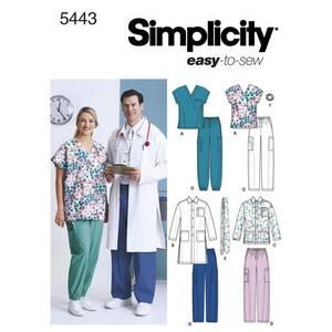 Bilde av Simplicity 5443 Helseuniform