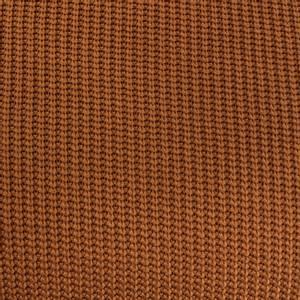 Bilde av Grovt strikket stoff i bomull, rust oransje