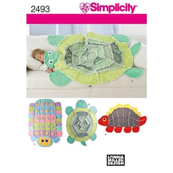 Simplicity 2493 Teppe utformet som dyr