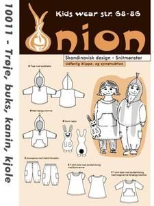 Bilde av Onion 10011 Hettejakke, bukse, kanin og kjole