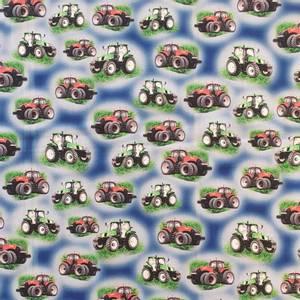 Bilde av Bomullspoplin - traktor