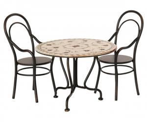 Bilde av Maileg - Vintage spisebord og 2 stoler