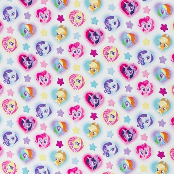 Jersey My little pony - hjerter hvit