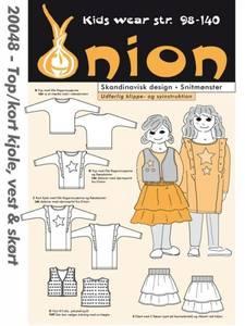 Bilde av Onion 20048 Topp, kjole vest og skjørt