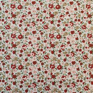 Bilde av Bomullspoplin - blomster små hvit
