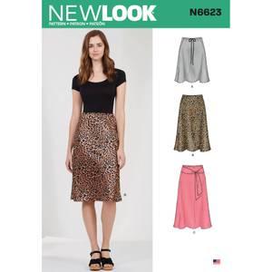 Bilde av New Look N6623 Skjørt med ulike lengder og variasjoner i livet