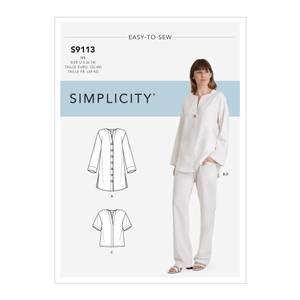 Bilde av Simplicity S9113 Tunika, topp og bukse