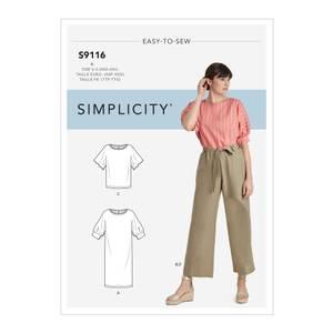 Bilde av Simplicity S9116 Kjole, topp og bukse