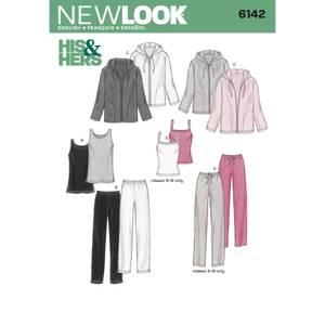 Bilde av New Look 6142 Hettegenser, joggebukse og singlet