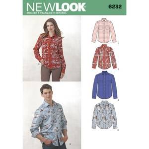 Bilde av New Look 6232 Skjorte til mann og dame