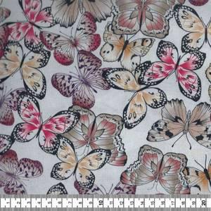Bilde av Bomullspoplin grov - Sommerfugl