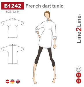 Bilde av Line2Line B1242 Tunika med skrå brystinnsnitt