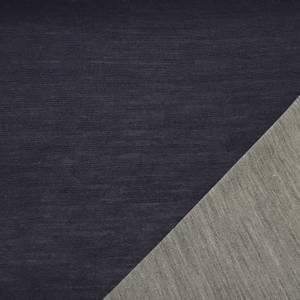 Bilde av Strikket merinoull - tosidig ensfarget i mørk blå og grå