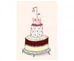 Bilde av Maileg - Gratulasjonskort dobbelt, stork rosa